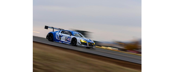 Flying Lizard Audi Leads NASA 25 Hours of Thunderhill presented by Hawk Performance at 12 Hours