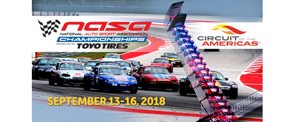 2018 NASA Championships Presented by Toyo Tires Event Details Announced